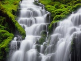 Cascades Photographic Print by Randy Wells