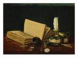 Still Life with Book and Pipe by Claude Raguet Hirst Giclee Print by Geoffrey Clements