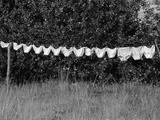 Underwear Hanging to Dry Photographic Print by Owen Franken