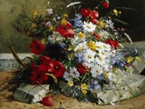 Daisies, Cornflowers and Poppies Fotodruck von Eugene Henri Cauchois