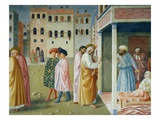 Detail of Healing of the Cripple and Raising of Tabitha Giclee Print by Masolino Da Panicale