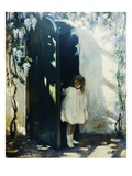 Poster of a Young Girl in a Doorway by Jessie Willcox Smith Giclee Print