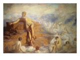 Prometheus Consoled by the Spirits of the Earth Giclee Print by George Spencer Watson