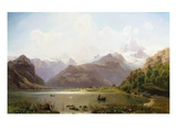 An Alpine Landscape Giclee Print by Anton Hlavacek