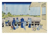 Sazai Hall of the Five-Hundred-Rakan Temple, from the Series Thirty-Six Views of Mount Fuji Gicl&#233;e-Druck von Katsushika Hokusai