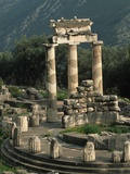 Ruins of Sanctuary of Athena at Delphi Photographic Print by Kevin Schafer