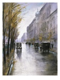 The Tiergartenstrasse, Berlin Reproduction proc&#233;d&#233; gicl&#233;e par Lesser Ury