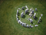 Aerial View of Stonehenge Photographic Print by Jason Hawkes