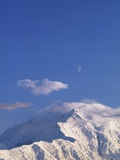 Mount McKinley Under a Half Moon Photographic Print by John & Lisa Merrill