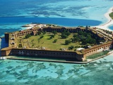 Aerial View of Fort Jefferson Photographic Print by Bob Krist