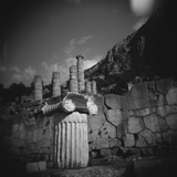 Marbel Column Near Temple of Apollo in Delphi Photographic Print by Paul Souders