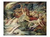 The Death of Siegfried Giclee Print by Henri de Groux