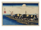 Yodo River, from the Series Famous Places of Kyoto Giclee Print by Utagawa Hiroshige