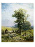 A Beautiful Summer's Day Giclee Print by James John Hill