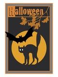 Halloween, with a Black Cat Reproduction procédé giclée par Steve Collier