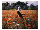 The Poppy Field Giclee Print by George Hitchcock