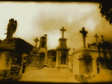 Grave Markers in Cemetery Photographic Print by Edward Holub