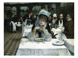 At the Restaurant le Doyen, Paris Premium Giclee Print by Ernest Ange Duez
