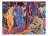 Three Nudes Giclee Print by Ernst Ludwig Kirchner
