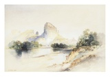 Castle Butte, Green River, Wyoming Giclee Print by Thomas Moran
