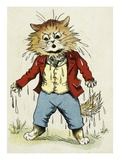 Poor Dad! Giclee Print by Louis William Wain