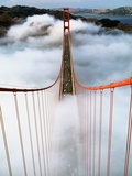 Golden Gate Bridge Wrapped in Fog Photographic Print by Roger Ressmeyer