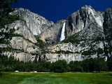 Waterfall and Valley at Yosemite Photographic Print by Shubroto Chattopadhyay