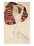 Act Against Colored Material Giclee Print by Egon Schiele