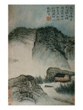View of a House in the Mountains from an Album of Twelve Landscape Paintings Giclee Print by Tao Chi