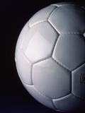 White Soccer Ball Photographic Print by Ed Eckstein