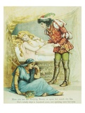 Book Illustration Depicting the Prince with Sleeping Beauty Giclee Print