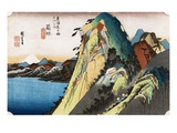 Oban Yoko-e from the Series The Fifty-Three Stations of the Tokaido Reproduction procédé giclée par Utagawa Hiroshige