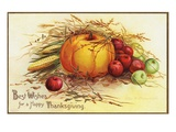 Best Wishes for a Happy Thanksgiving Giclee Print