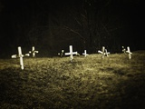 Crosses in a Cemetery Photographic Print by Michael Prince