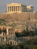 Acropolis and Parthenon, Athens Lámina fotográfica por Schafer, Kevin