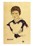 Portrait of Miss Toni Rieger Giclee Print by Egon Schiele