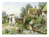 Out of School Giclee Print by Myles Birket Foster