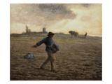 El sembrador Lámina giclée por Jean-François Millet