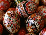 Basket of Ukrainian Easter Eggs Photographic Print by Jim Sugar