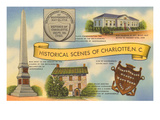 Historic Sites of Charlotte, North Carolina Prints