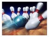 A Bowling Strike Lámina giclée por Matthias Kulka