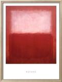 Blanc sur rouge Affiches par Mark Rothko