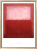 White over Red Prints by Mark Rothko
