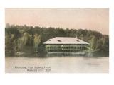 Pavilion, Pine Island, Manchester, New Hampshire Prints