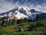 Mt.Rainier Photographic Print by Charles Mauzy