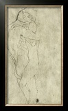 Lovers, Black Crayon (1908) Framed Giclee Print by Gustav Klimt