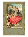 Scene from Tristan und Isolde, Death of Tristan Posters
