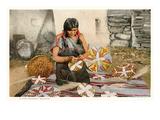 Hopi Basket Weaver Print