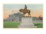 Washington Statue, Kansas City, Missouri Posters