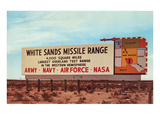 Billboard, White Sands Missile Range, New Mexico Poster